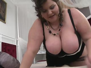 BBW with giant boobs gets hardly drilled in a fat pussy