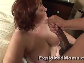 Black buddy gives chubby redhead dicking of her life