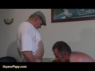 Slutty bitch is shared between old buddy and his friend