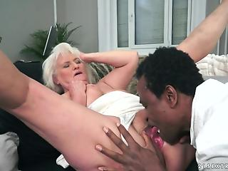 Cunning black guy got granny drunk and banged her defenseless body