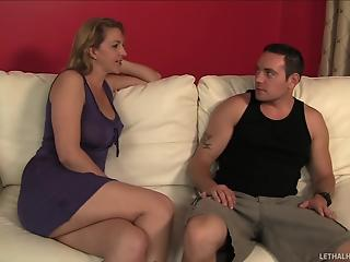Two sexy young dolls and mature fucker have impressive 3some action
